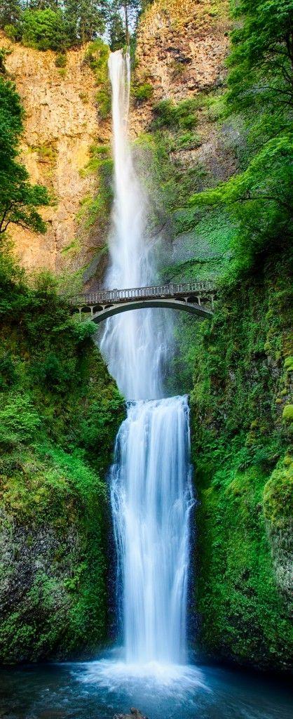 Multnomah Falls Oregon Photography Cropped for Pinterest by Michael Matti-3