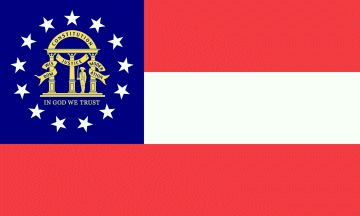 history of georgia flag