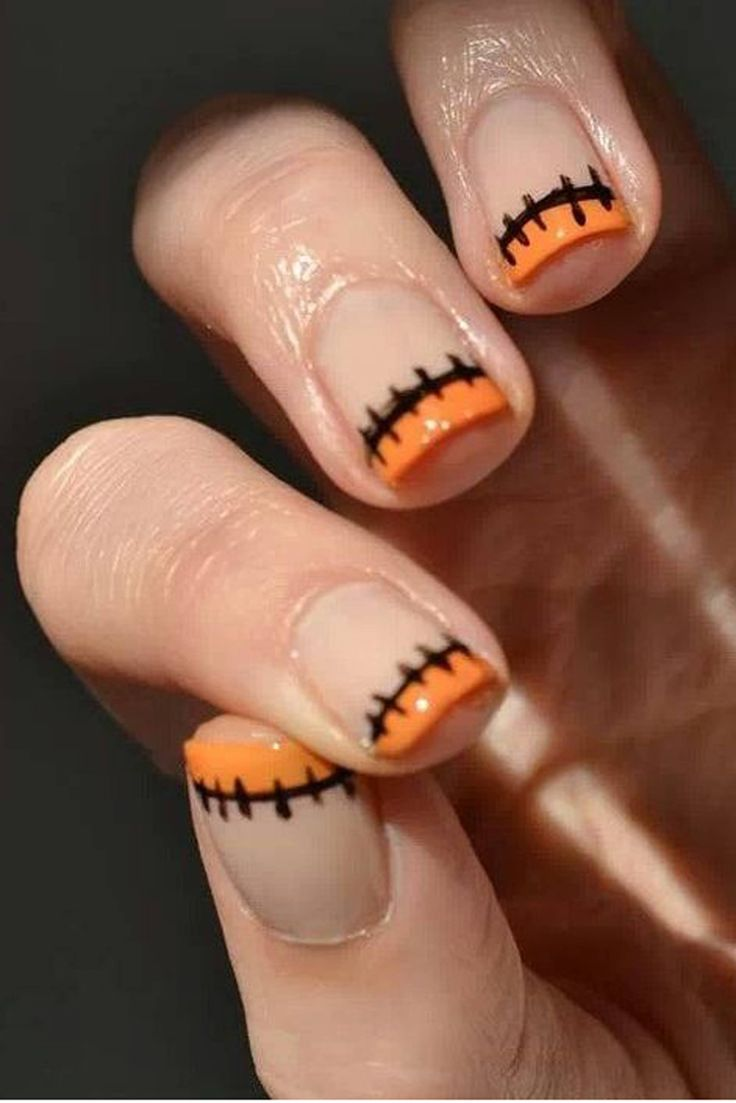 Now these I can do... Creepy Frankenstein stitch nails