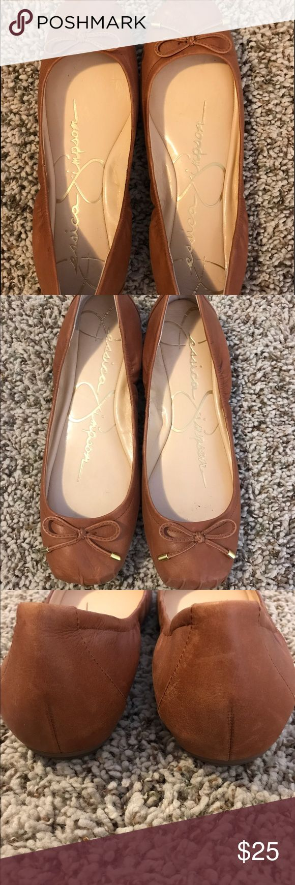 Women's Jessica Simpson Ballet Flats Jessica Simpson ballet flats! Mint condition! Super comfy and super cute! Cognac color. 8M Jessica Simpson Shoes Flats & Loafers
