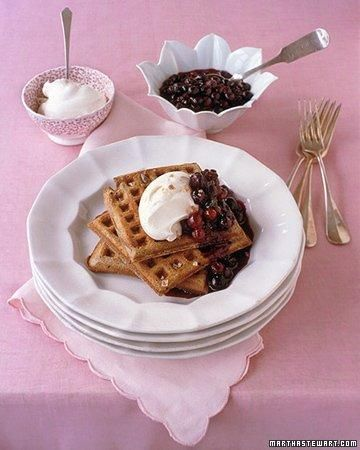 Whole Grain Goodness // Buckwheat-Sour Cream Waffles RecipeBuckwheatsour Cream, Waffles Recipe, Buckwheatsourcream Waffles, Waffle Recipes, Breakfast, Buckwheat Sour Cream Waffles, Martha Stewart, Saturday Mornings, Recipe Gallery