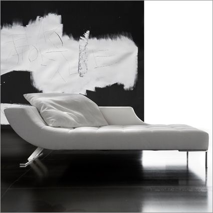 erba viceversa chaise longue, fabric or leather by g. soressi