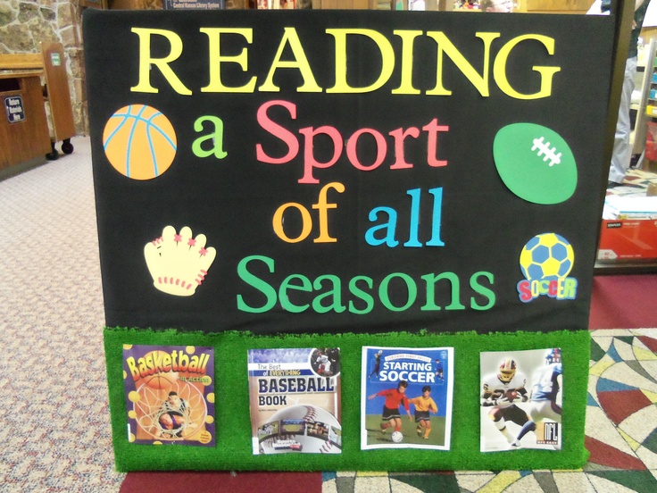 Sports Bulletin Board - Reading is a Sport for All Seasons!