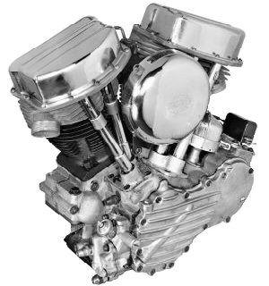 Panhead  Grosse évolution en 1948 avec le Panhead et ses culasses en aluminium, ses poussoirs hydrauliques et ses nouveaux caches culbuteurs en forme de poële à frire. Avec une puissance de 50cv pour une cylindrée de 1000cc, ce moteur est considérablement évolué pour son époque. Il équipera dans sa version 1200cc de 55cv sortie dès 1953, les premières ELECTRA-GLIDE en 1965