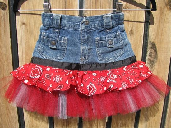 upcycle! Turn those too small jeans into a cute skirt - perfect for my baby | http://beautifulskirts.blogspot.com