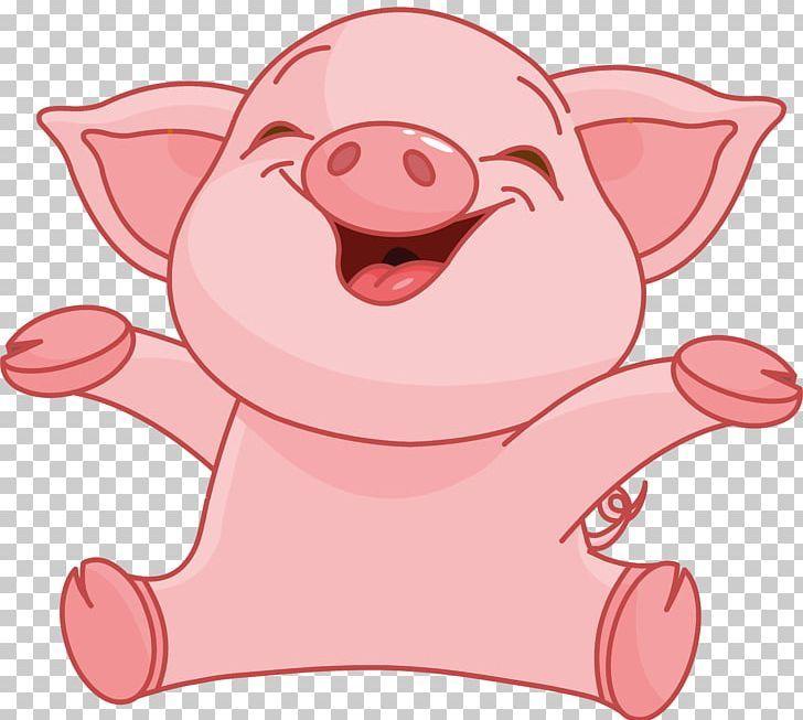 Domestic Pig Cartoon Png Animals Art Cartoon Cuteness Domestic Pig Pig Cartoon Baby Animal Painting Cartoons Png