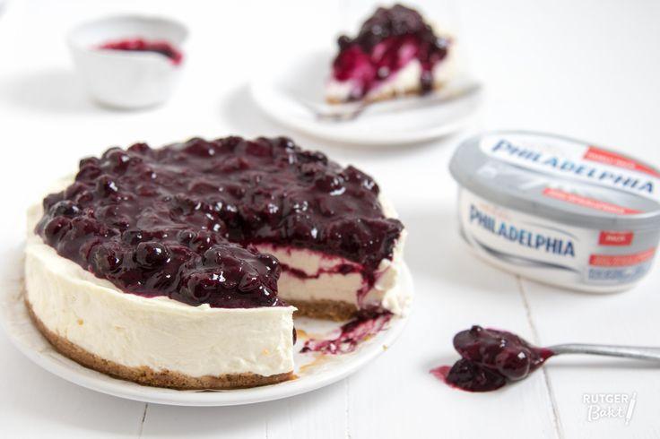 Frisse Philadelphia cheesecake met citroen en blauwe bessen – recept