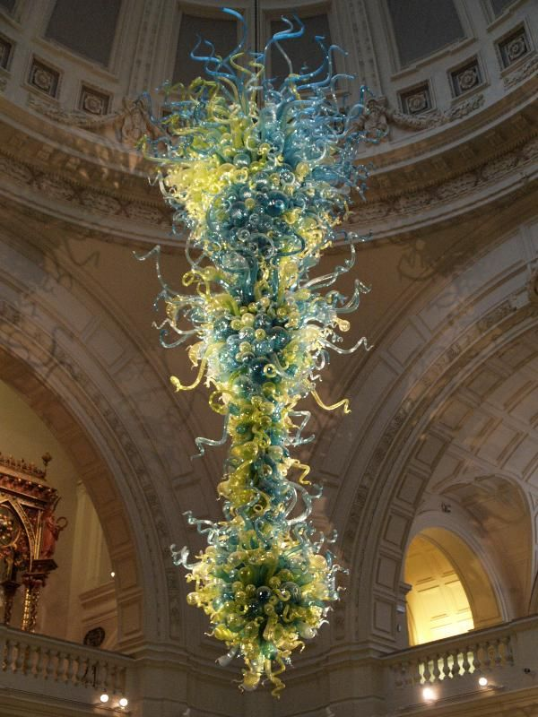 "Hand Blown Multi-Color ""Chihuly-Like"" Glass Chandelier for sale"