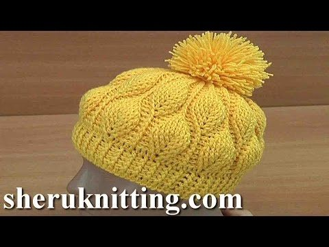 How to Crochet 3D Leaves Beanie Hat Tutorial 153 - YouTube
