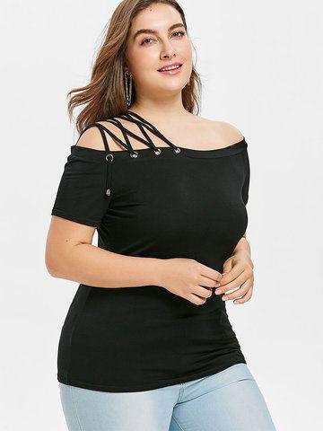 2fca740808ca1 Off Shoulder Lace Straps Shirts for Women