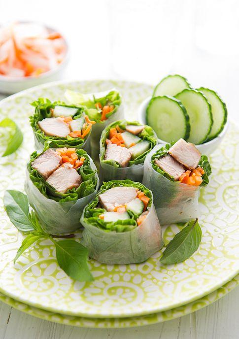 ... Chicken, Healthy Food, Healthy Desserts, Chicken Spring Rolls, Chicken