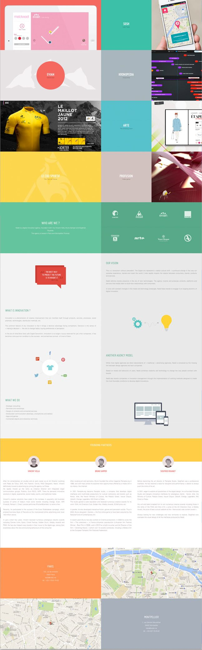Winner 26 September 2013 Nedd by Nedd http://www.cssdesignawards.com/css-web-design-award-winner.php?id=22993 Nedd is a digital innovation agency based in Paris and Montpellier (France). #Responsive #Scroll #FlatDesign
