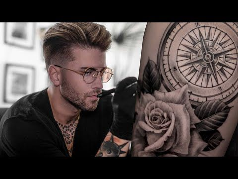 4 Daniel Silva How To Tattoo A Compass Youtube Tatoo