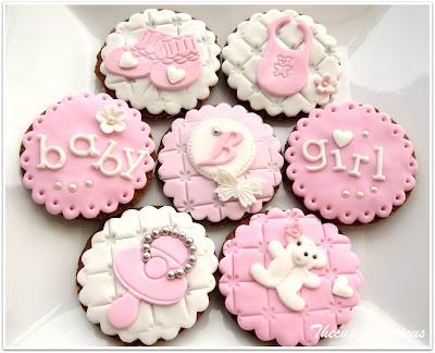 elegant baby shower cookies