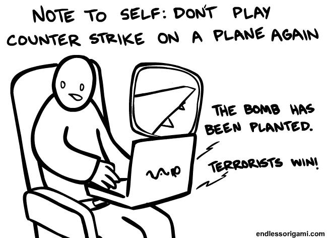 Counter Strike On A Plane