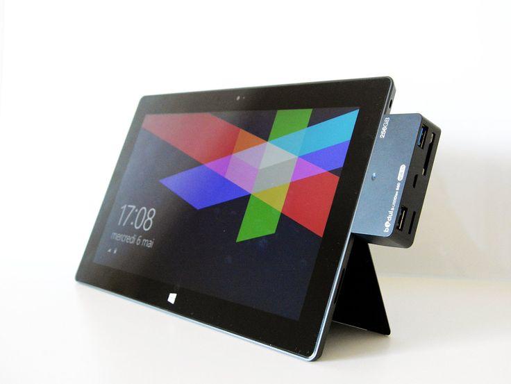 HUB 2 ports USB 2.0 lecteur de carte 4 en 1 pour tablette Microsoft Surface RT . Nous avons une version en USB 3.0 pour les Surface Pro, Surface 2, Surface Pro 2, Surface Pro 3 existant aussi sur Amazon: Amazon.fr: Informatique