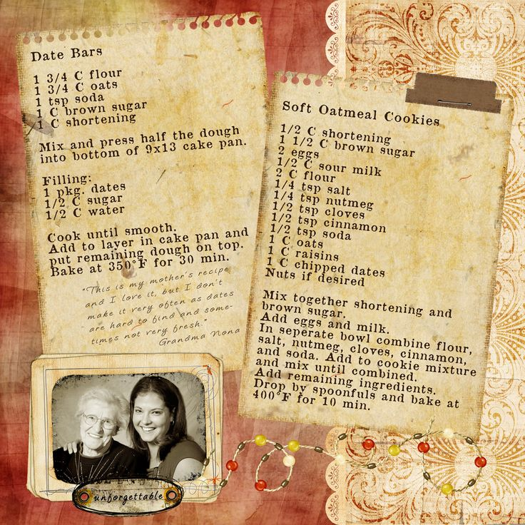 Meadow Street Memoirs: Fall Time Family Favorites - lovely scrapbook pages from a family cookbook she made, wonderful!