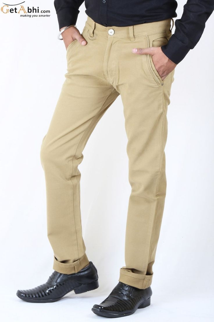 Mustard Color Cotton #Lycra #Jeans 5 pocket mid-rise stretch jeans, These regular fit jeans feature a mid-rise waist.These stretchable and comfortable jeans will keep you at ease all along. Hold this Jeans With White & Red Shirt.