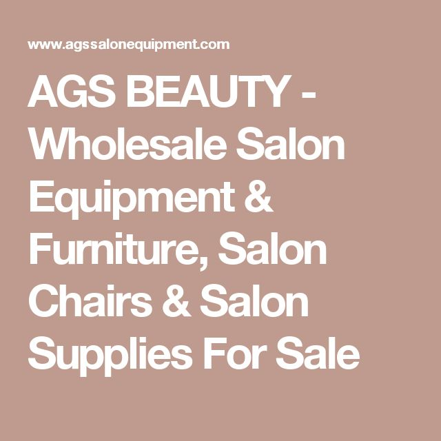 AGS BEAUTY - Wholesale Salon Equipment & Furniture, Salon Chairs & Salon Supplies For Sale #HairSalonSupplies