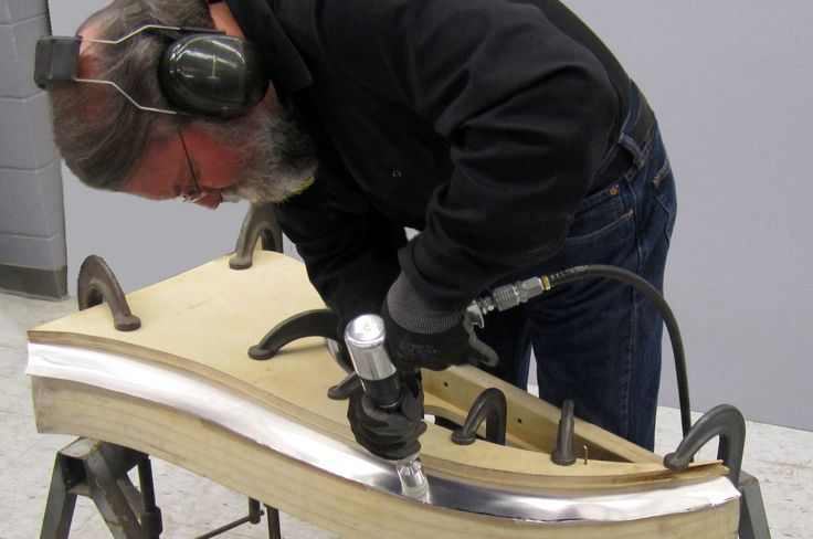Ron Covell shows us how to properly use a planishing hammer, which can allow you to do a lot of different variations of forming when it comes to making parts!