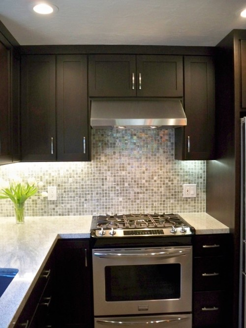 Cabinets And Light Granite With Square Edges Would Like