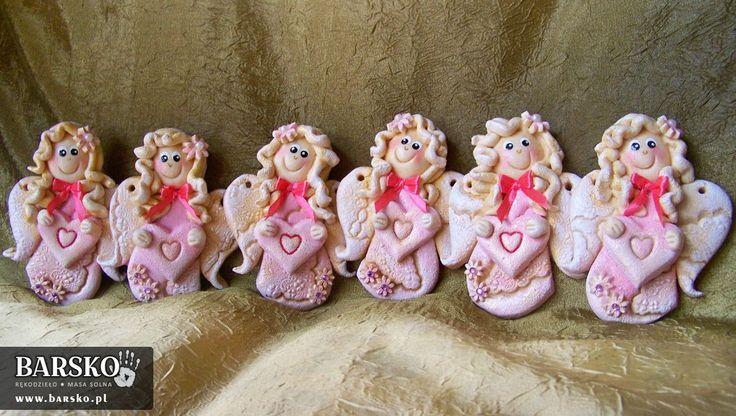 Walentynkowe Aniołki z masy solnej
