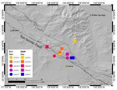 Scientists at the University of California, Riverside have detected spontaneous tectonic tremor — a signature of slow earthquakes deep below the earth's surface — in the Anza Gap region of the San Jacinto Fault. Tectonic tremors are believed to increase the likelihood of a moderate to large, dama...