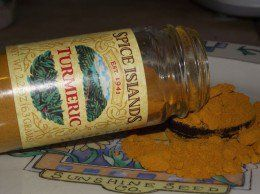 Turmeric powder benefits dogs and people.