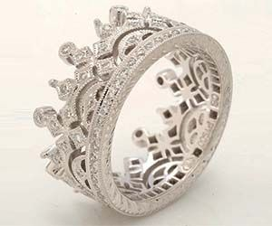 diamond crown ring you met your fiancee at medieval times a fair maiden in the - Medieval Wedding Rings