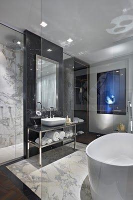 Dream bathroom- contemporary marble?