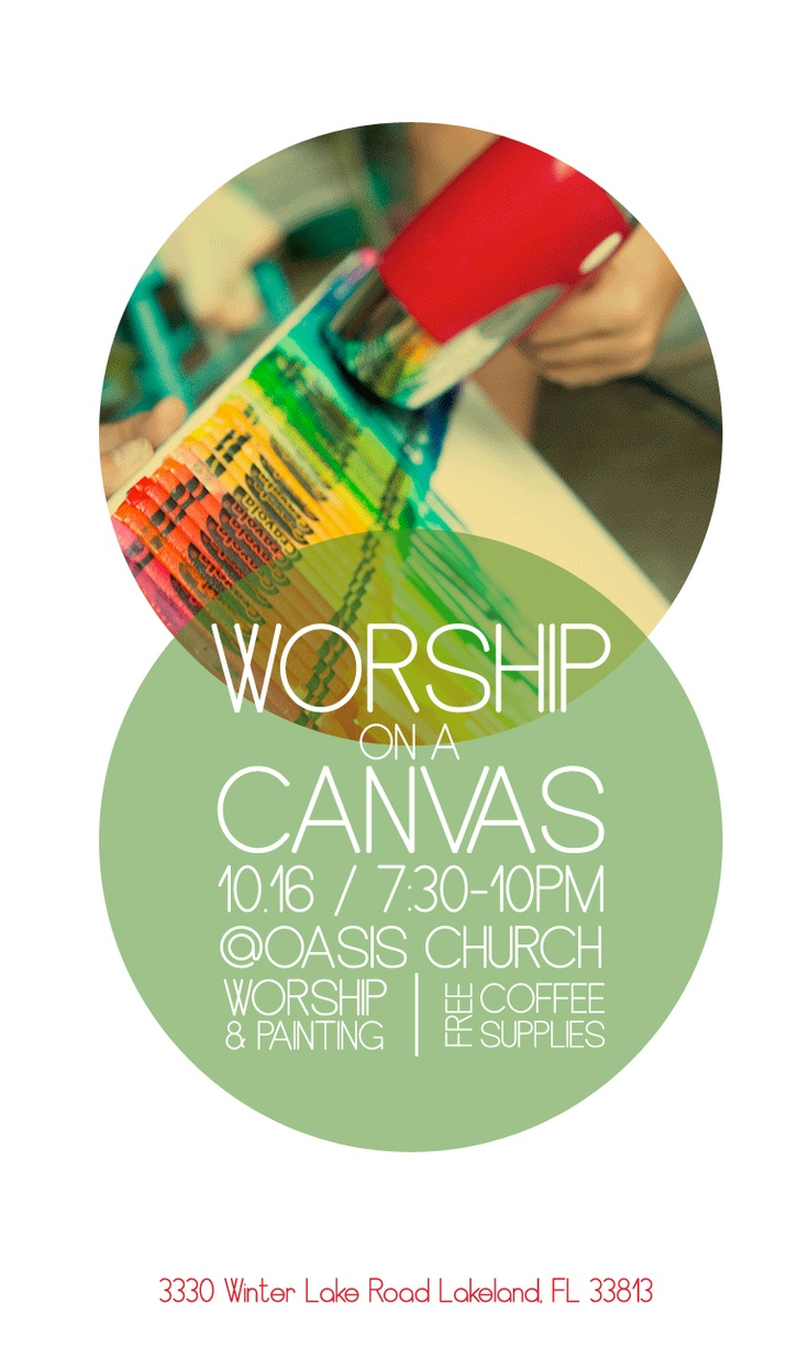 Poster design for events - Cool Flyer Design For What Appears To Be An Art Event At A Church God S