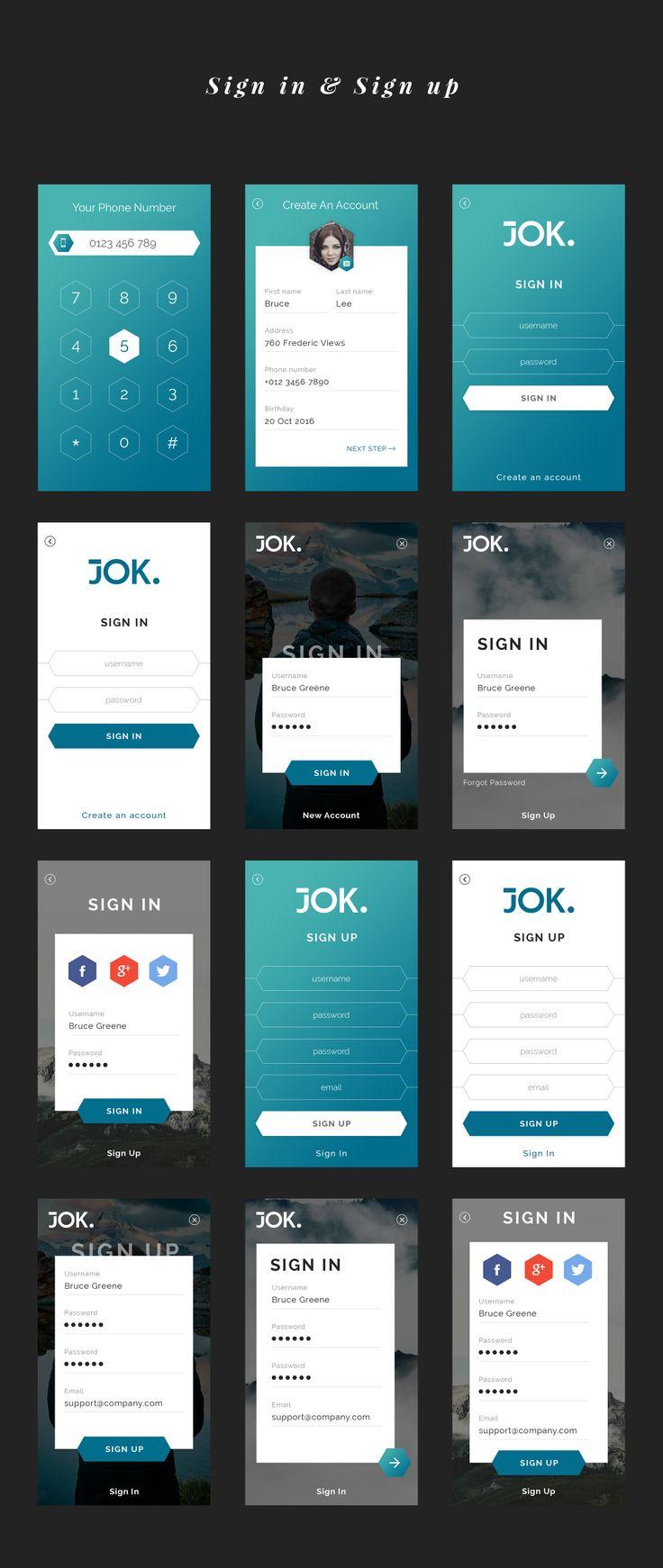 mobile app template design
