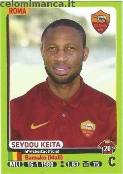 Calciatori 2014-2015: Fronte Figurina n. 405 Seydou Keita
