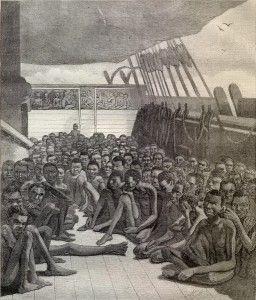 Outra imagem dos navios negreiros que eram usados para o transporte dos escravos africanos. Pesquisa feita por Arthur Dantas
