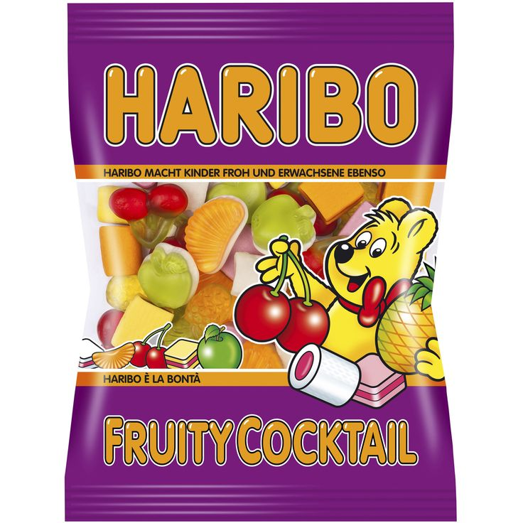 -in USA- HARIBO Fruity Cocktail gummies -200 g- Made in Germany