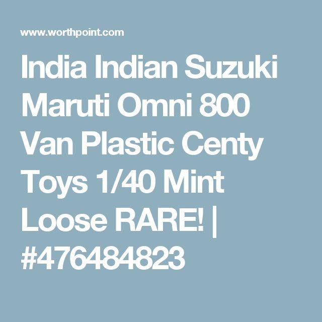 India Indian Suzuki Maruti Omni 800 Van Plastic Centy Toys 1/40 Mint Loose RARE!   #476484823