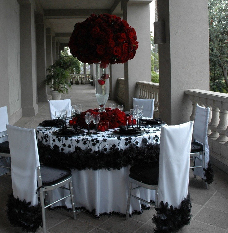 1193 best weddings images on pinterest diy wedding centerpieces image detail for wildflower linens black white red charcoal wedding decor junglespirit Image collections