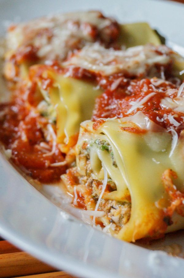 Vegan Lasagna Rolls with Tofu Ricotta and Fresh Tomato Sauce
