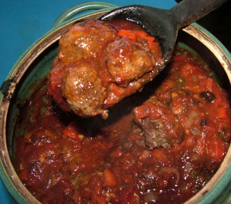 italian kangaroo meatballs