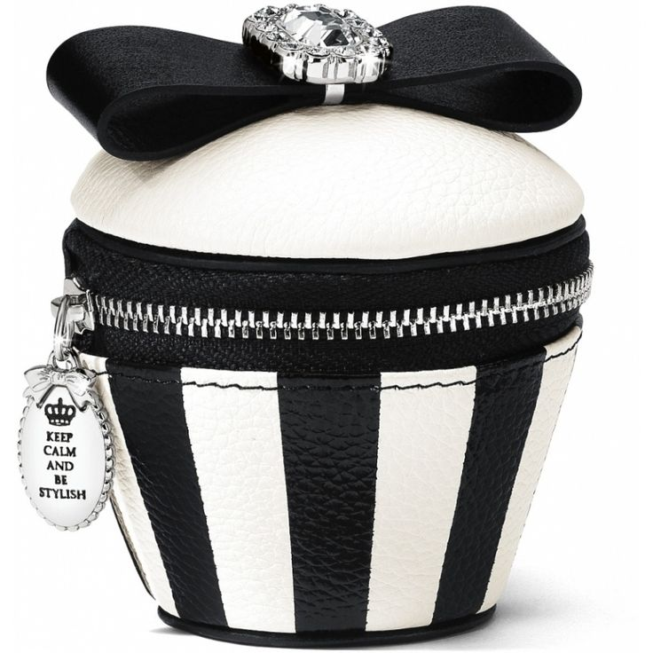 Cupcake Coin Purse by Brighton. This would make such a cute bridesmaid / attendant gift for a black and white themed wedding.