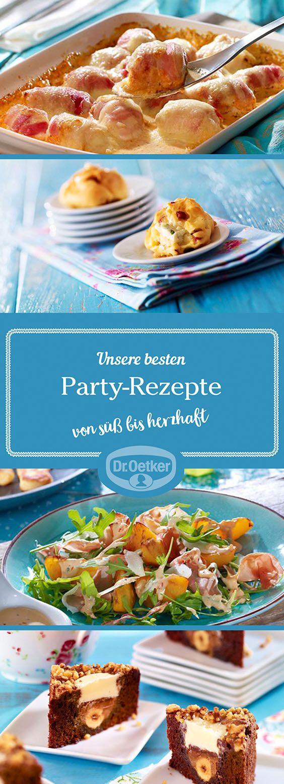 Lassen Sie sich von der großen Auswahl an Party-Rezepten, die von der Dr. Oetker Versuchsküche entwickelt wurden, inspirieren.