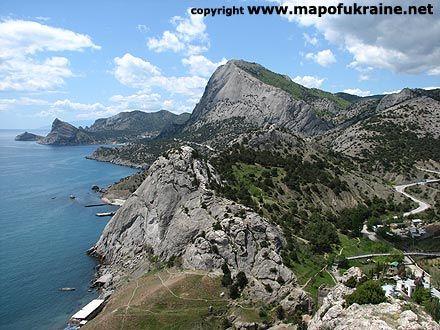 Black sea. View from Genoese fortress in Sudak Crimea Ukraine