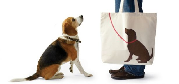 DIY Dog Craft - Make a cute tote featuring your dog's silhouette!