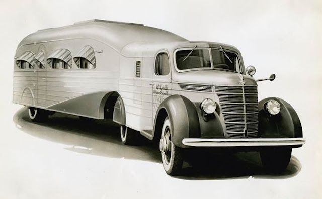The International Harvester 'Jungle Yacht',  used by Italian explorer Attilio Gatti during several of his exhibitions to British East Africa in the 1930's. Gatti's trailers were luxury apartments on wheels.
