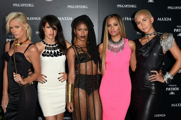 Lauren Bennett, Natasha Slayton, Simone Battle, Emmalyn Estrada and Paula Van Oppen of G.R.L.