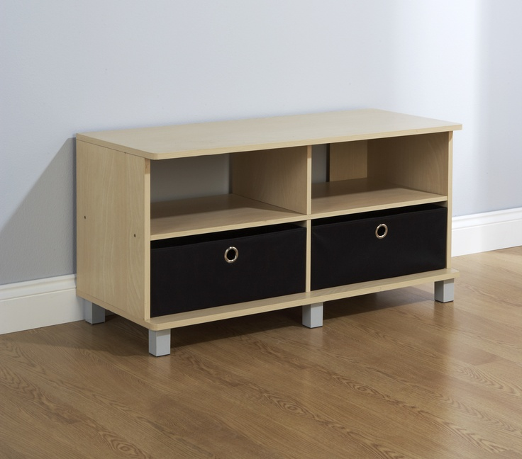 Fantastic value, this beech Oslo Tv unit comes with two handy canvas drawers and two shelves. Providing adequate storage space to keep your home tidy and organised. A practical solution for your entertainment needs. £50