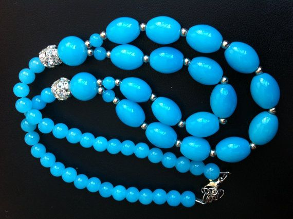 blue necklaces for women,  blue fashion jewelry, womens blue topaz jewelry, Statement Necklace Long Necklace