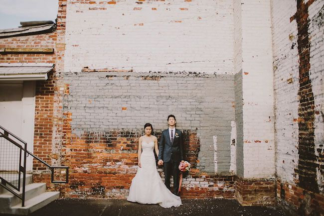Must do a photo in front of exposed brick the day of!