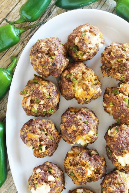 All the flavors of jalapeno poppers wrapped up into a tasty meatball with a surprise cheese-filled center.