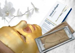 Mascarilla de colageno con oro
